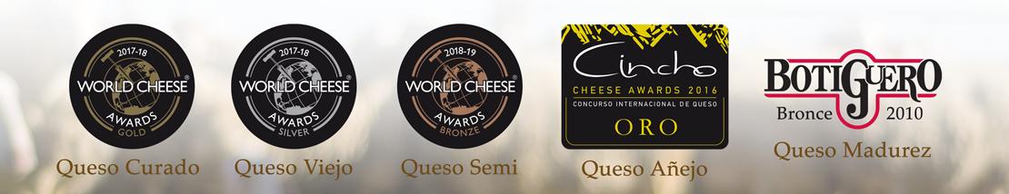 Premios obtenidos por los quesos El Zamorral